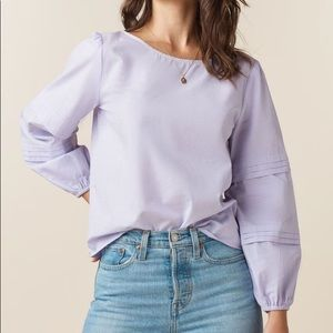 Vetta The Convertible Sleeve Blouse Lilac Check M